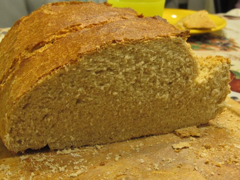 ... és a fenti kenyér belülről