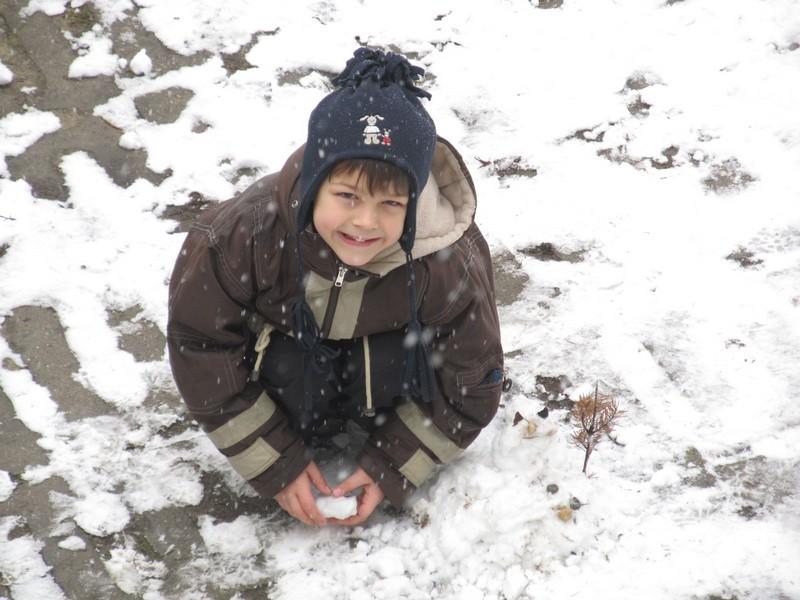 2013 és Peti első hóembere